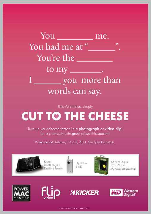 Power Mac Center Cut to the Cheese Valentine Promo