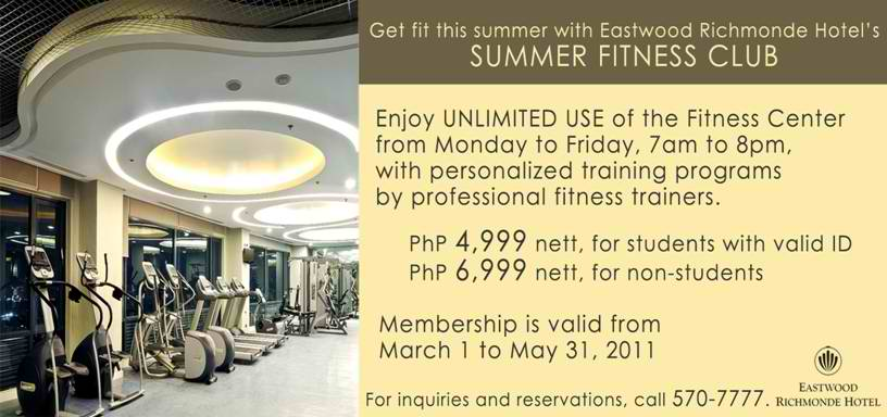 Summer Fitness Club at Eastwood Richmonde Hotel